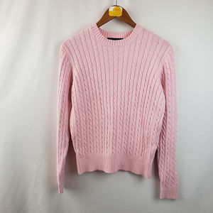 Denim & Co. Womens Cable Knit Sweater Pullover